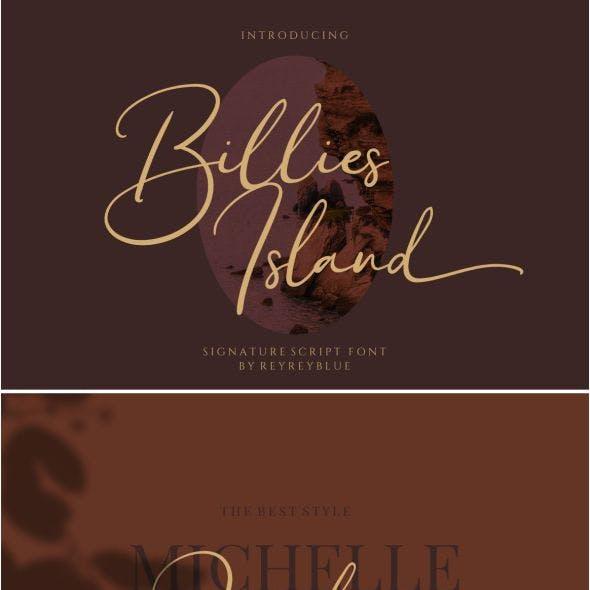 Billies Island - Signature Font