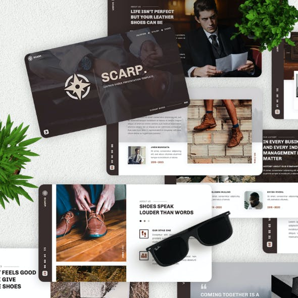 Scrap - Leather Shoes Keynote Template