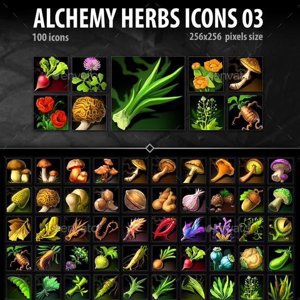 Alchemy Herbs Icons 03