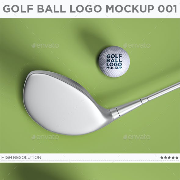 Golf Ball Logo Mockup 001