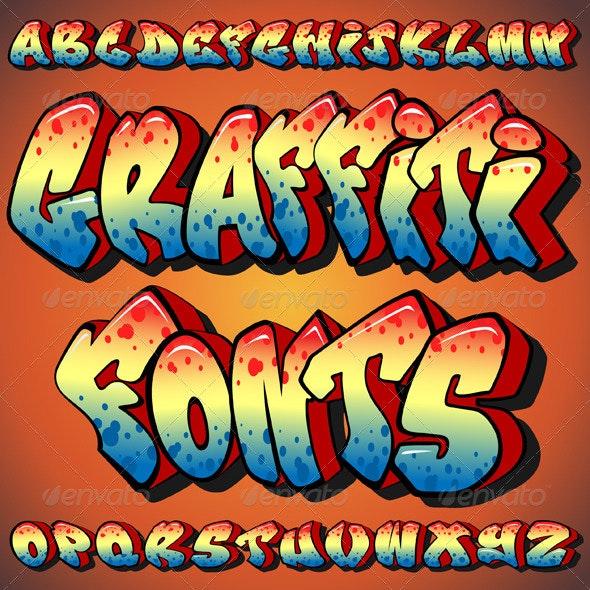 Graffiti Fonts - Miscellaneous Vectors