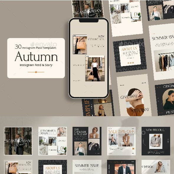 Autumn Social Media Templates and instagram posts