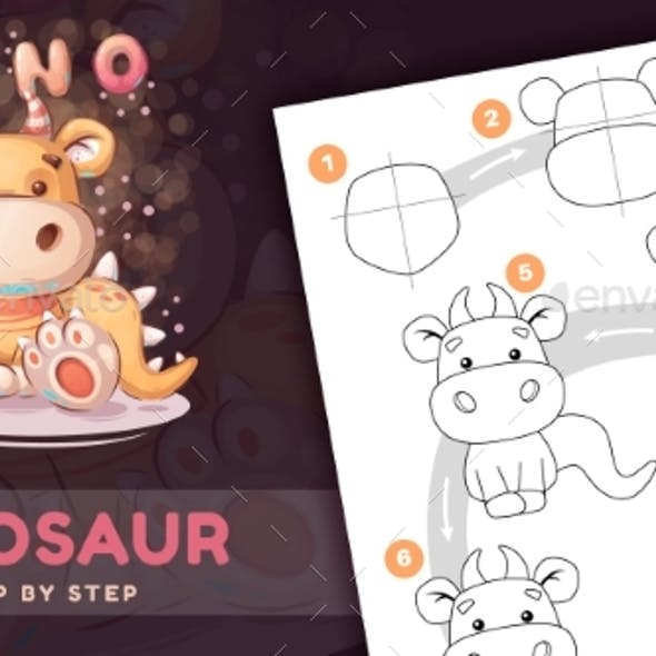 Drawing Tutorial Cartoon Character Animal Dino
