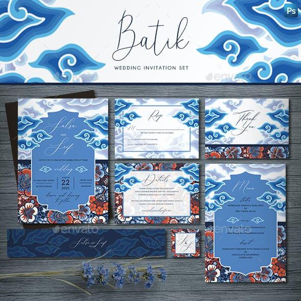 Batik Wedding Invitation Set