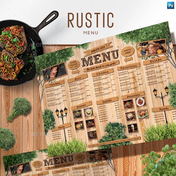 Rustic Menu Board