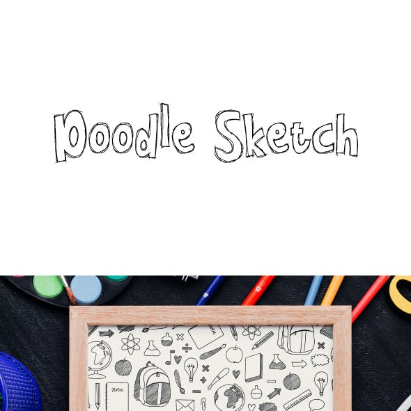 Doodle Sketch Comic Font