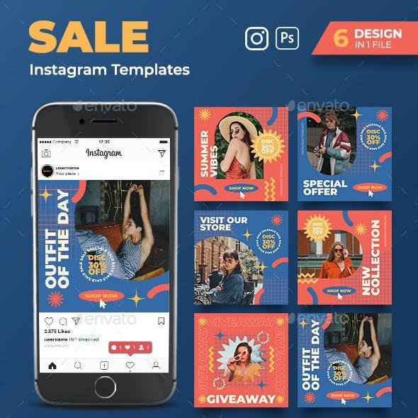 Summer Sale Instagram Post Templates
