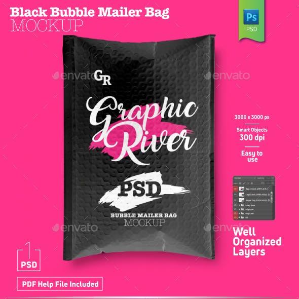 Black Bubble Mailer Bag