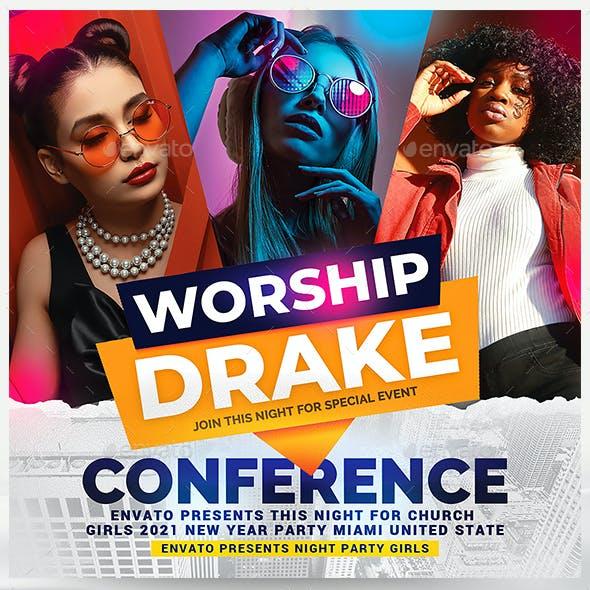 Church Worship Flyer