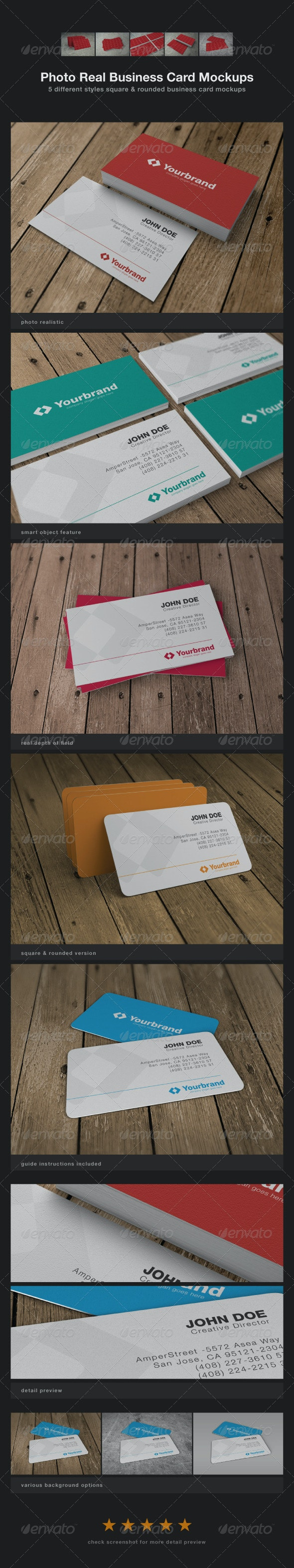 Photo Real Business Card Mockups - Business Cards Print