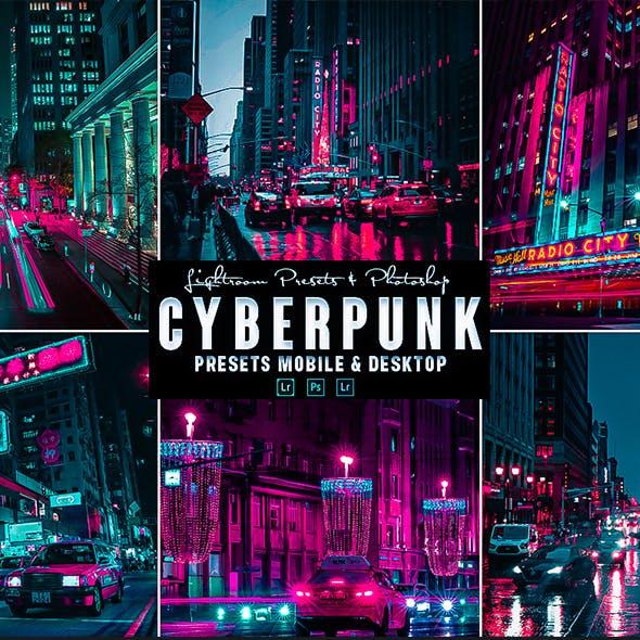 Cyberpunk  Photoshop Action & Lightrom Presets