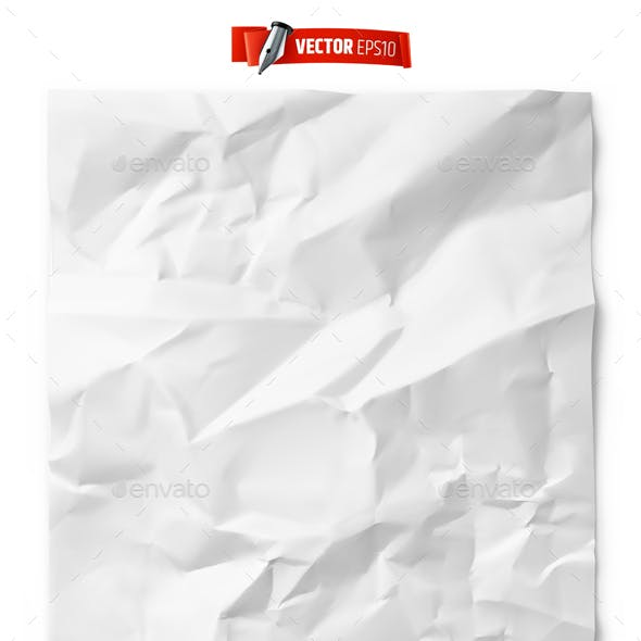 Vector Realistic Crumpled Paper