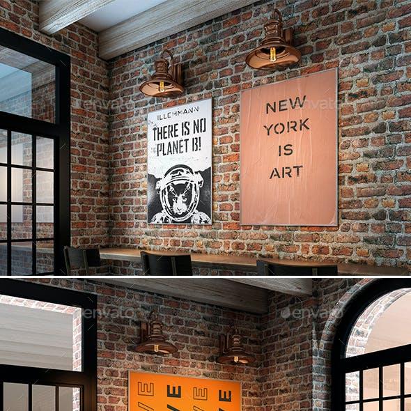 Bar Poster Mockups Scenes