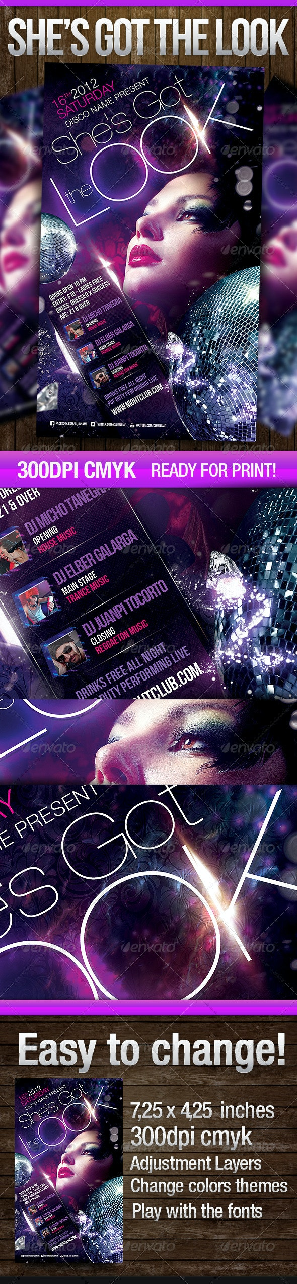 Shes got the Look - Events Flyers
