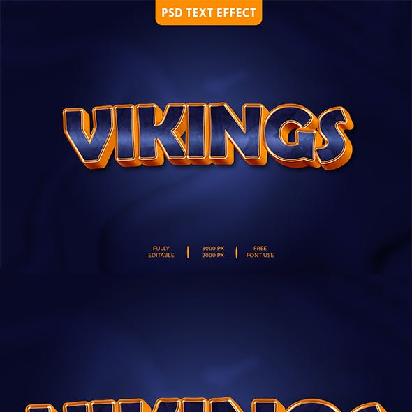Vikings 3D Text Effect Style