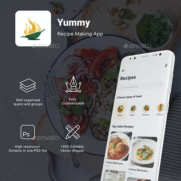 Online Recipes & Cooking App UI | Yummy