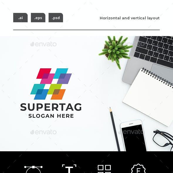 Super Hashtag Logo