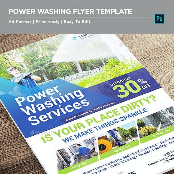 Power Washing Service Flyer
