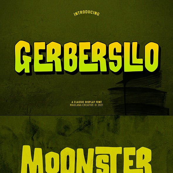 Gerbersllo Display Font