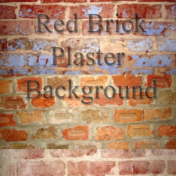 11 Red Brick/Plaster Background