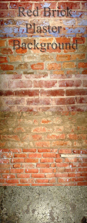 11 Red Brick/Plaster Background - Stone Textures