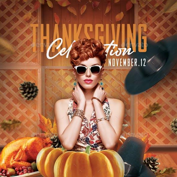 Thanksgiving Celebration Party Flyer