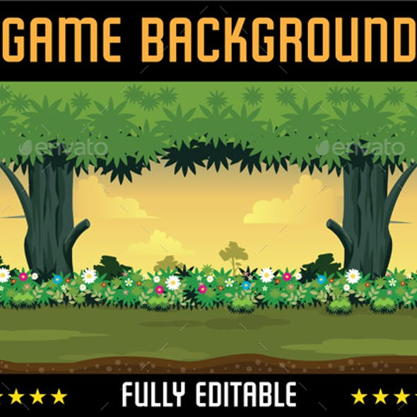 Loopable Game Background Flower Garden / Forest