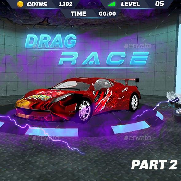 3D Racing Game UI - 2D GUI