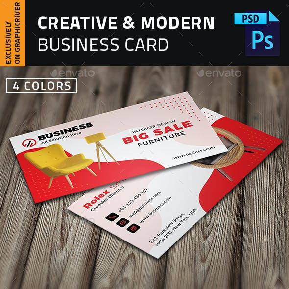 Furniture Shop Business Card  |  Ecommerce Business Card