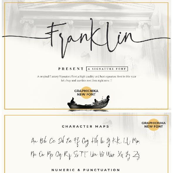 Franklin Font Business Signature