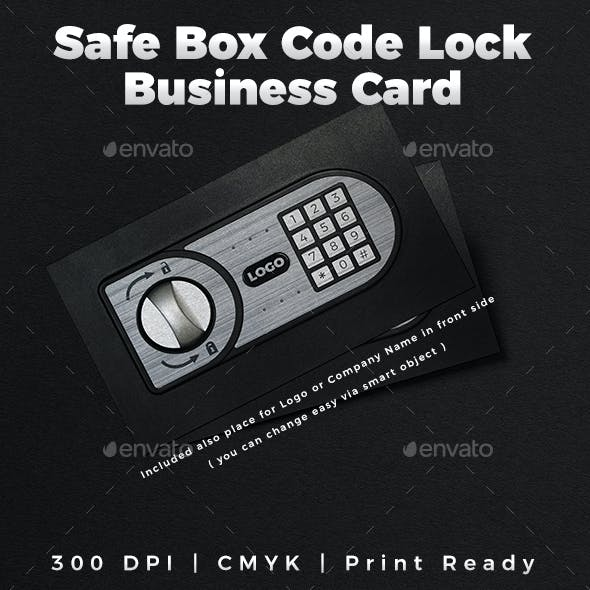 Safe Box Code Lock Business Card