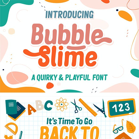 Bubble Slime Display Font
