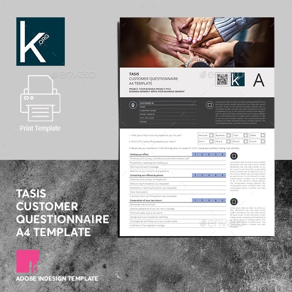 Tasis Customer Questionnaire A4 Template