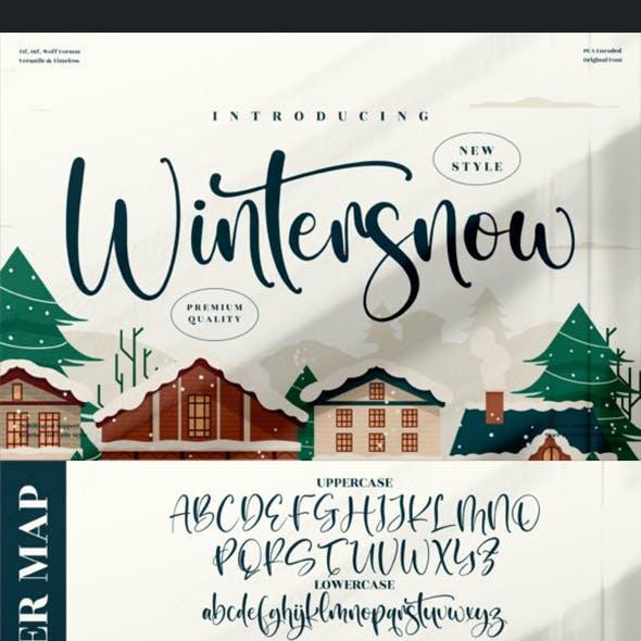 Wintersnow Handwriting Font