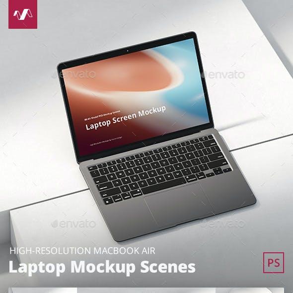 Laptop Mockup Scenes Air