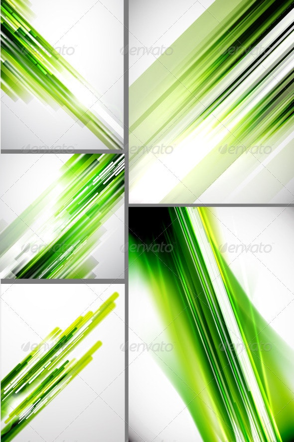 Shine Green Lines Backgrounds - Backgrounds Decorative