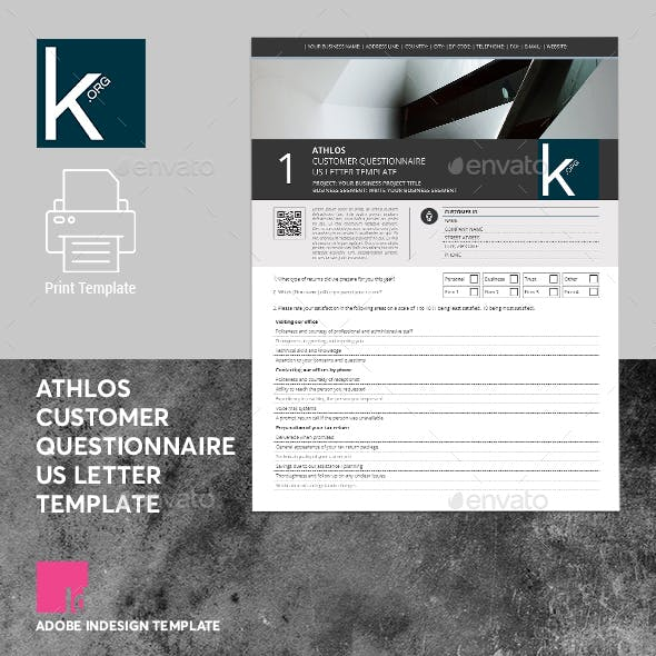 Athlos Customer Questionnaire US Letter Template