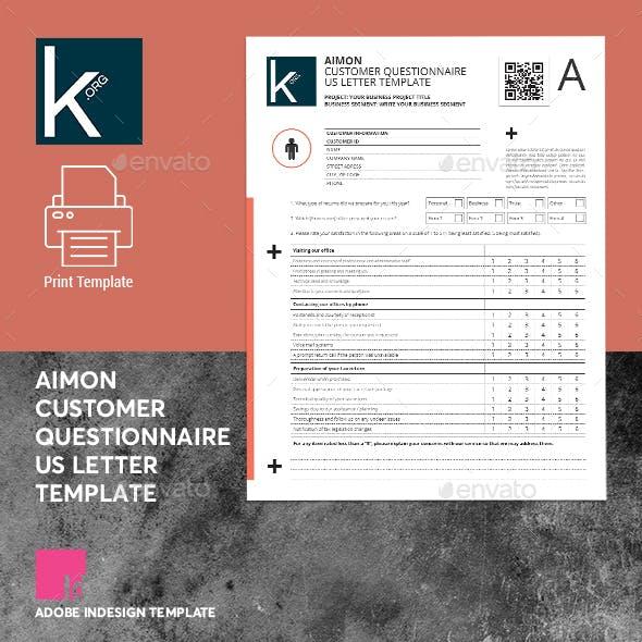 Aimon Customer Questionnaire US Letter Template