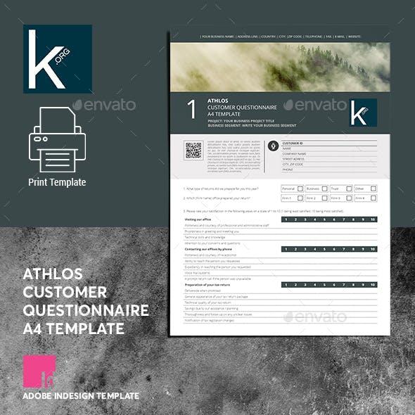 Athlos Customer Questionnaire A4 Template