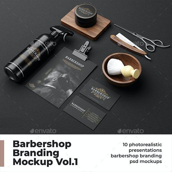 Barbershop Branding Mockup Vol.1