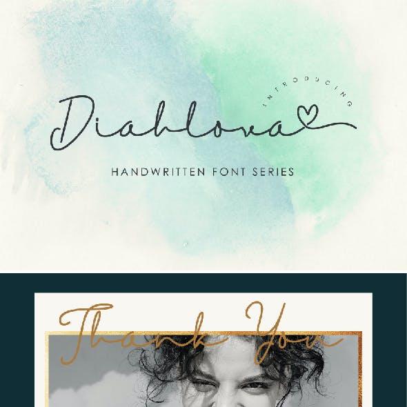 Diahlova Font  Wedding Invitation Font