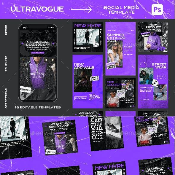 Ultravogue Instagram Template Design
