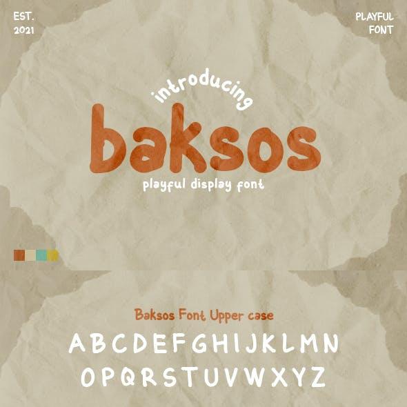 Baksos - Playful font