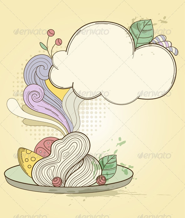 Plate of Pasta - Food Objects