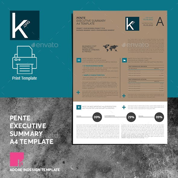 Pente Executive Summary A4 Template