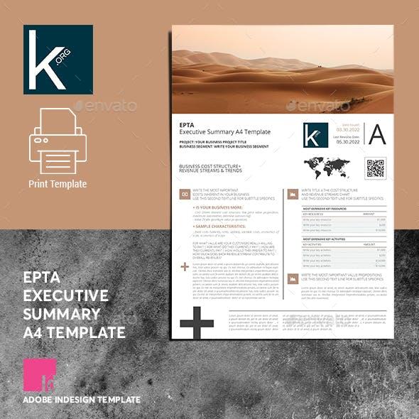 Epta Executive Summary A4 Template