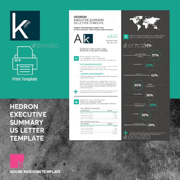 Hedron Executive Summary US Letter Template