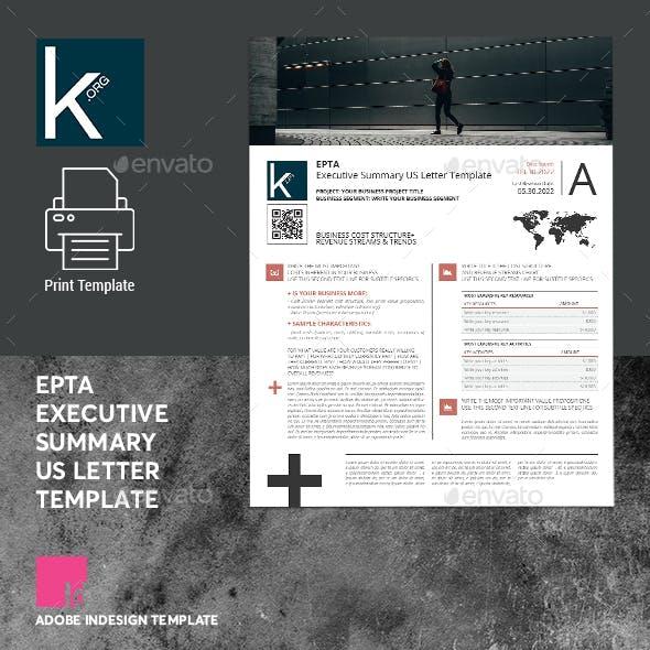 Epta Executive Summary US Letter Template