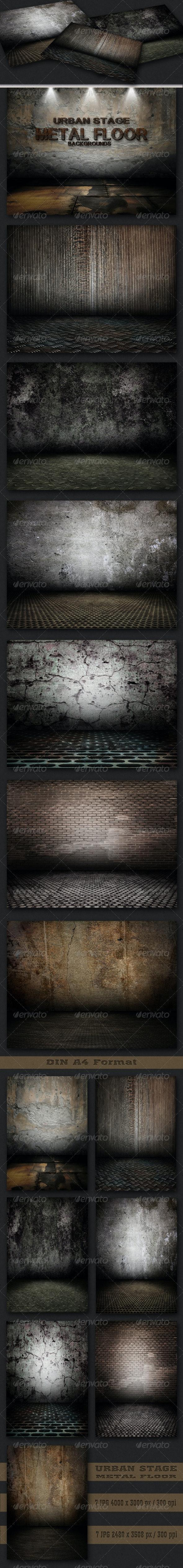 Urban Stage - Metal Floor Set - Urban Backgrounds