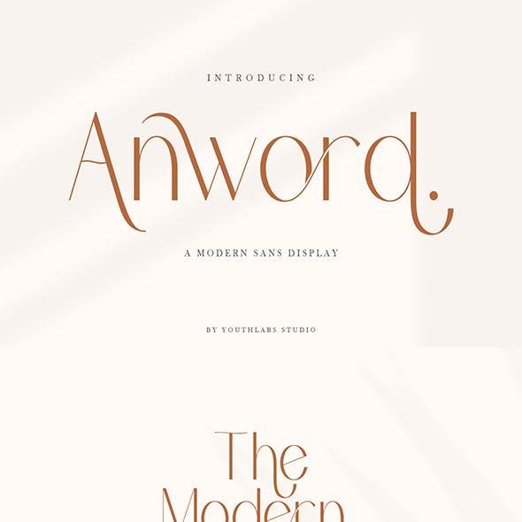 Anword | Modern Sans Display